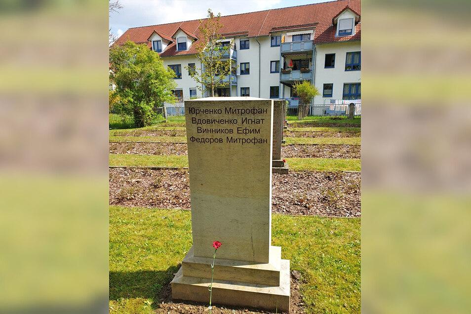 Auf der Pirnaer Kriegsgräberstätte steht nun eine weitere Stele.