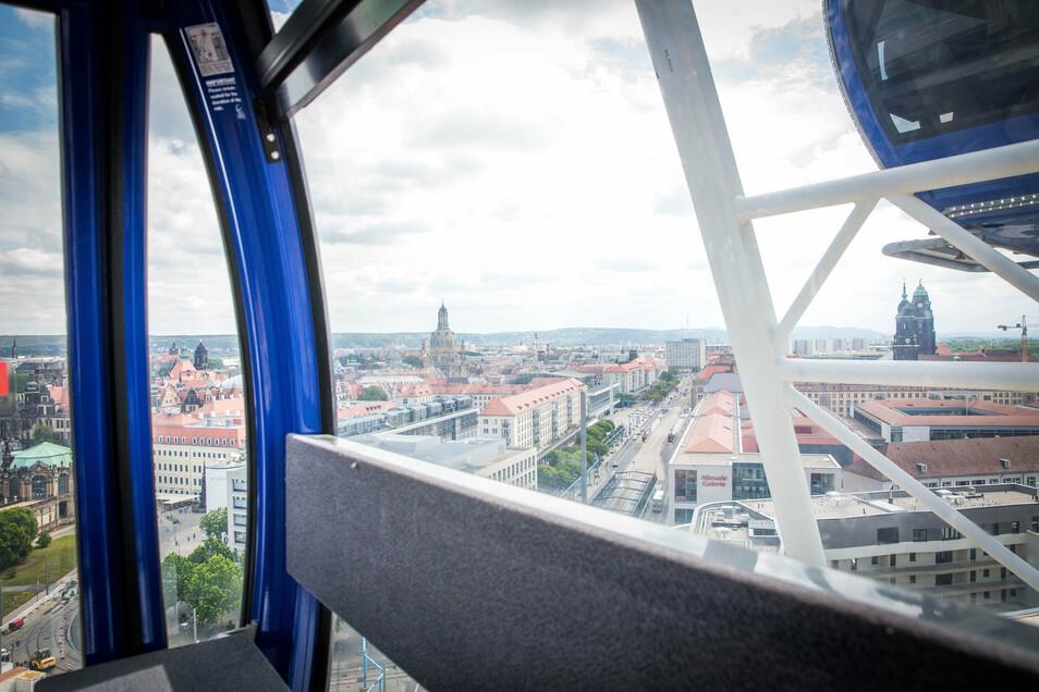 Solche Ausblicke konnten die Fahrgäste vom Riesenrad aus genießen.