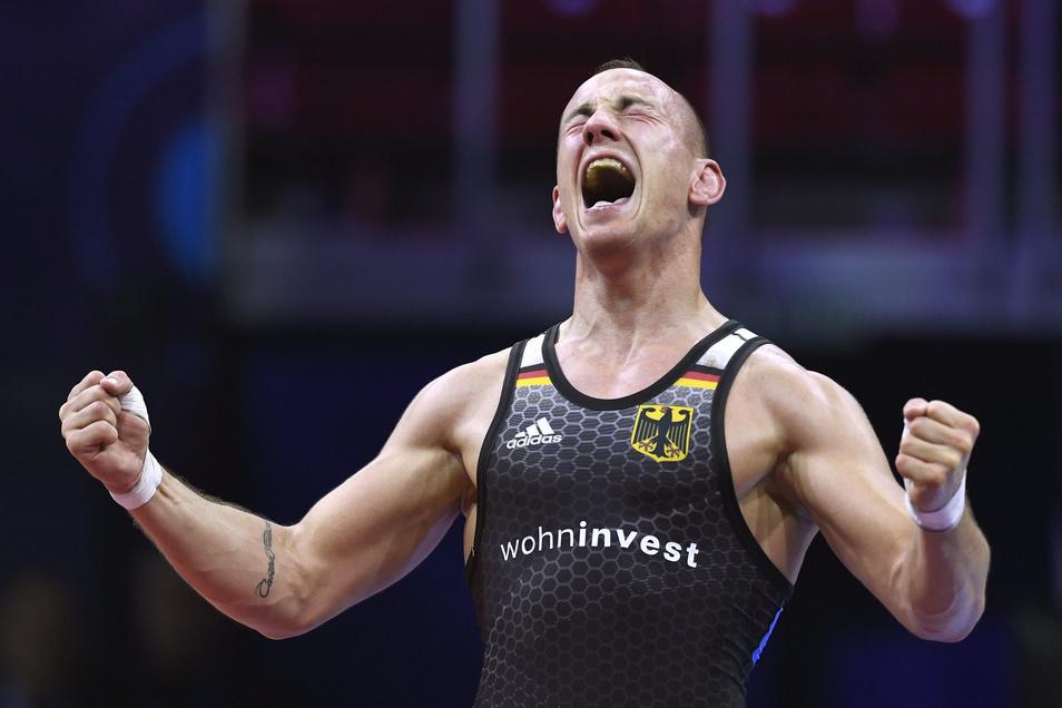 Frank Stäbler erringt 2018 den dritten Titel. Jetzt will er noch mehr – und das Ticket nach Tokio.