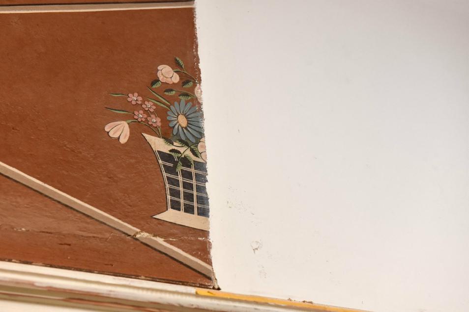 Die alte Wandmalerei im Haupthaus soll rekonstruiert werden.
