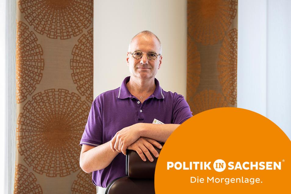 Erik Bodendieck ist der Präsident der sächsischen Landesärztekammer. Angesichts stagnierender Impfzahlen plädiert er für eine Impfpflicht.