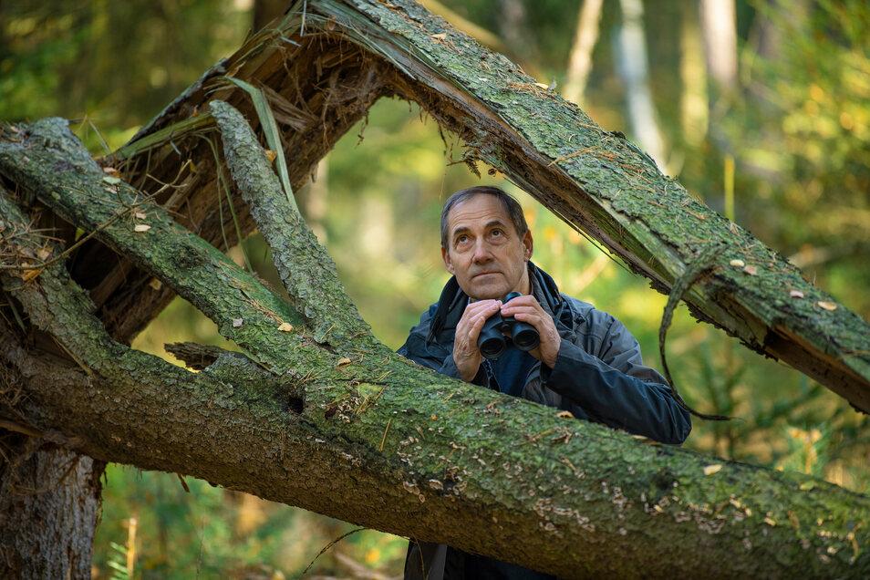 Der 68-jährige Matthias Schrack beobachtet seit mehr als 50 Jahren Vögel in seinem Heimatrevier rund um Radeburg und Moritzburg.