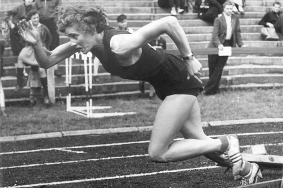 Christa Stubnick war der erste Sprintstar der DDR. Mit der gesamtdeutschen Staffel lief sie 1956 in Dresden zum Weltrekord.