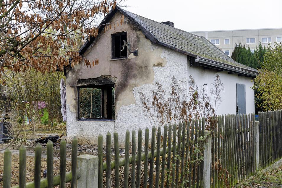 """In der Gartensparte """"Blum"""" in Königshufen brannte erst vor Kurzem diese Datsche aus."""