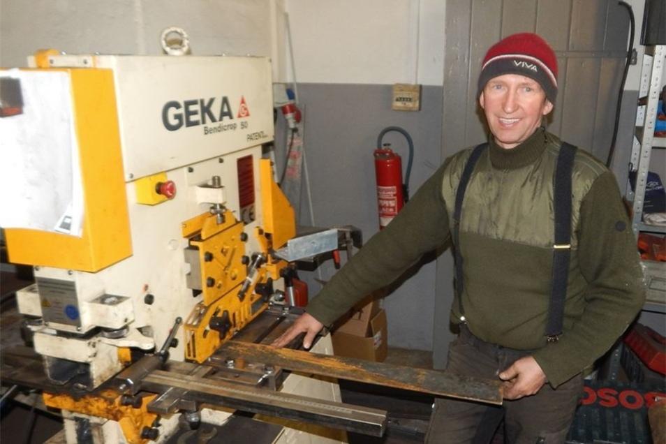 Bei Handwerker Gerd Fischer entstand bei einem Einbruch erheblicher Schaden.