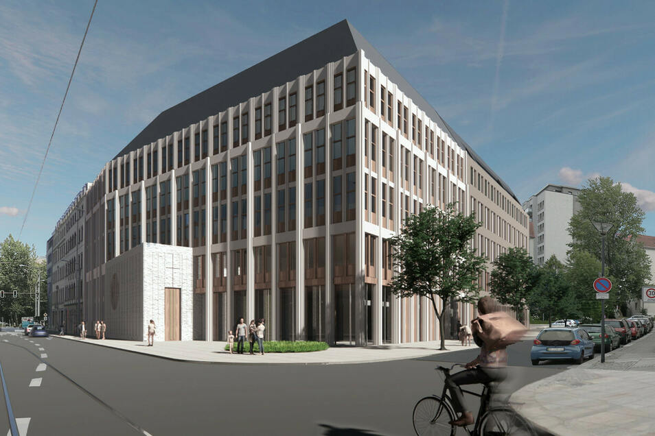 So könnte es aussehen: ein nachhaltiges Gebäude an der Schweriner Straße.