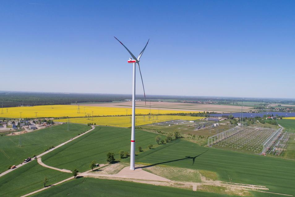 Energiereicher Standort: Bei Streumen im Kreis Meißen will die Sachsen-Energie den vorhandenen Windpark um drei Anlagen erweitern.