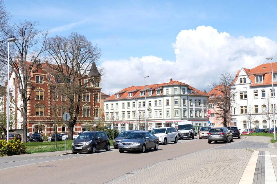 Blick auf den Robert Koch Platz in Meißen Cölln ,  29.04.2021  Foto: Claudia Hübschmann  Honorarfrei für Produkte von sächsische.de und Sächsischer Zeitung Foto: Claudia Hübschmann