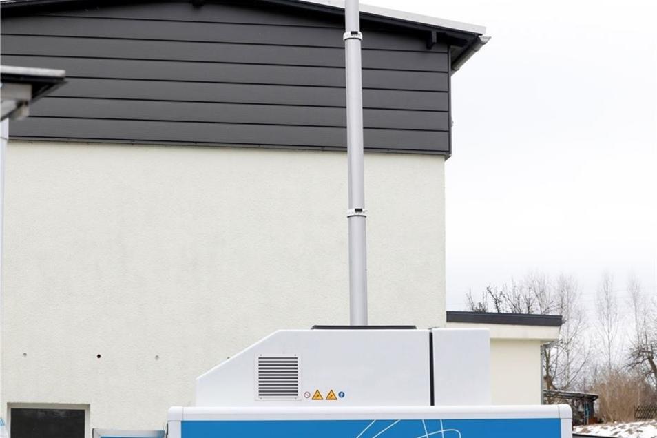 Das Kamera-Teleskop lässt sich bis auf acht Meter ausfahren.