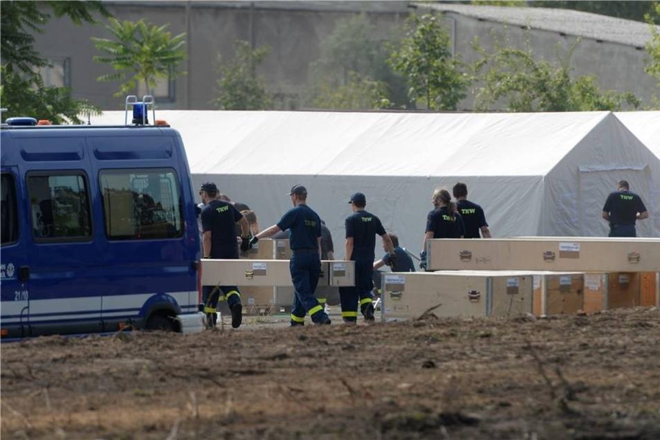 """""""Wir brauchen das Zeltlager dringend"""", sagte der Sprecher der Landesdirektion, Holm Felber, am Freitag."""