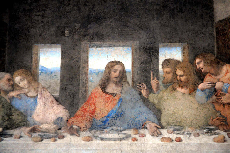 Das Abendmahl (italienisch: Il Cenacolo bzw. L'Ultima Cena) wurde 1497 von Leonardo vollendet.