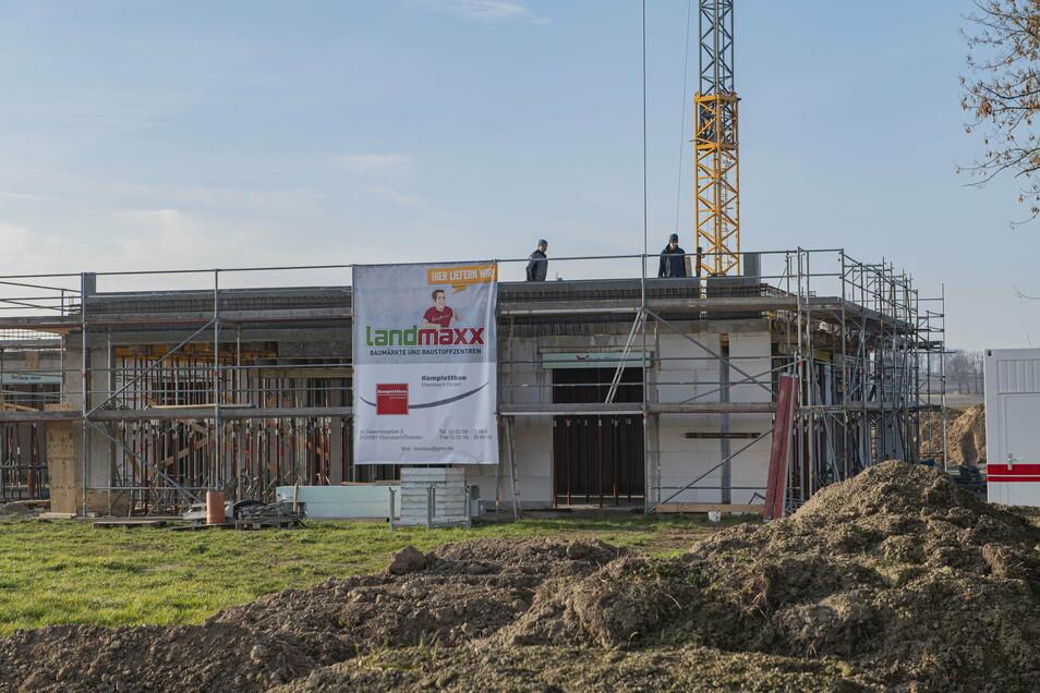In der Nähe der Ebersbacher Gemeindeverwaltung entsteht die neue Sozialstation des DRK.
