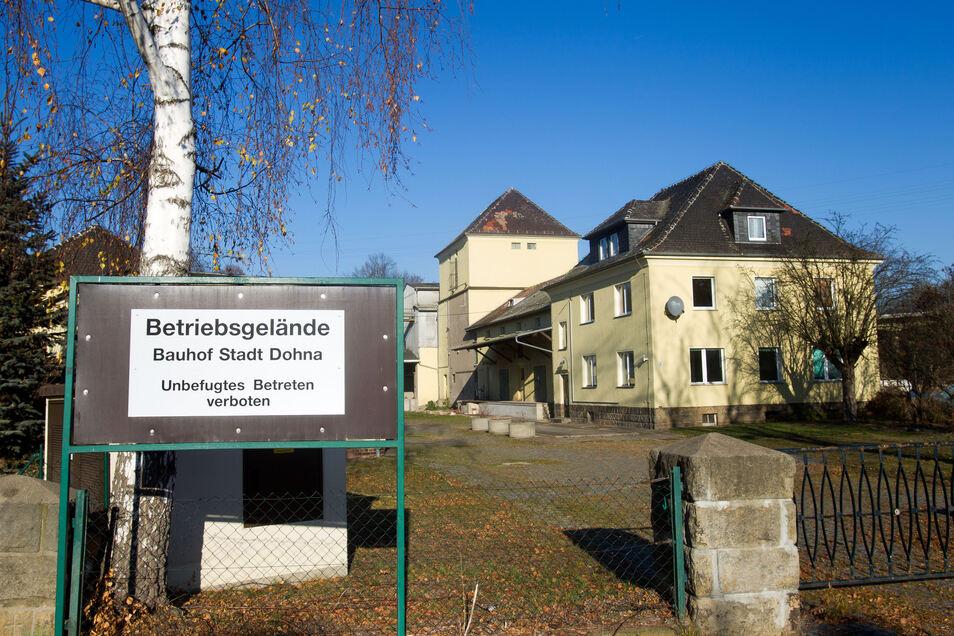 Früher Raiffeisen-Objekt, gehört das Kornhaus inzwischen der Stadt Dohna und soll Bauhof-Standort werden.