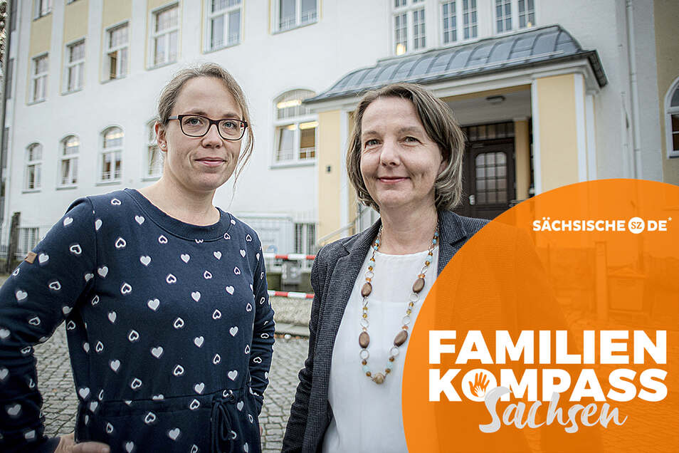 Schulsozialarbeiterin Sarah Hartmann (l.) und die Leiterin der Oberschule Pulsnitz, Silvana Wendt, ergreifen viele Maßnahmen, um Mobbing zu verhindern oder zu unterbinden.