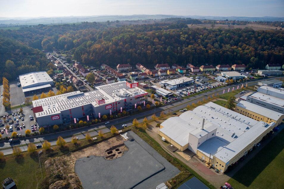 Blick auf das Gebiet an der Großsedlitzer und Heidenauer Straße in Pirna: Hier wird es vorübergehend etwas eng.