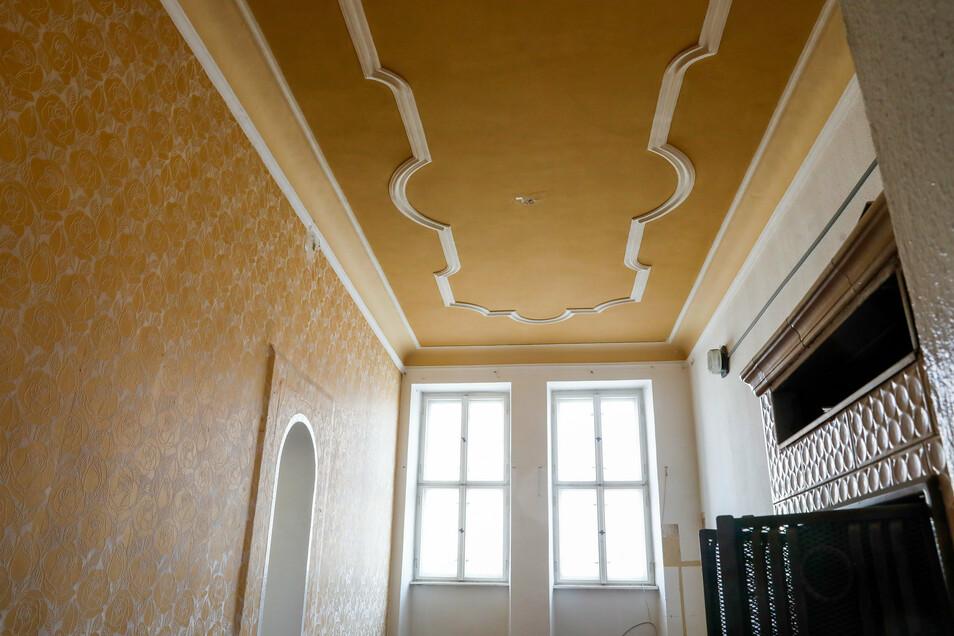 In den Zimmern gibt es viele historische Gestaltungselemente, die erhalten bleiben sollen.