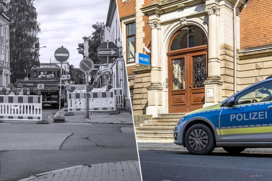 Die kleine Baustelle an der Pausitzer Straße war beziehungsweise ist nur eine von mehreren auf einer Strecke zum Revier an der Klosterstraße. Die Polizeistandort erhält eine neue Anbindung ans Datennetz.