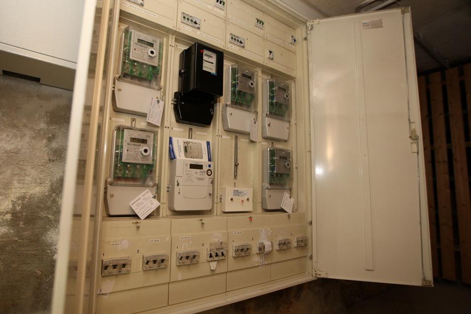 Stromkasten in einem Wohnhaus.