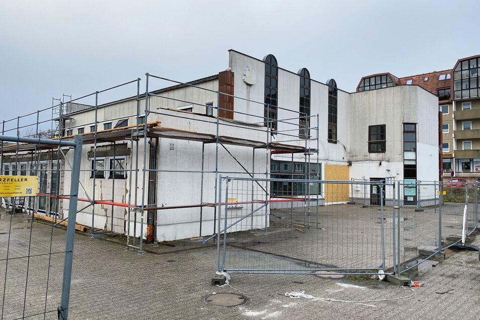 Hier entsteht die neue Stadtbibliothek in Ebersbach.