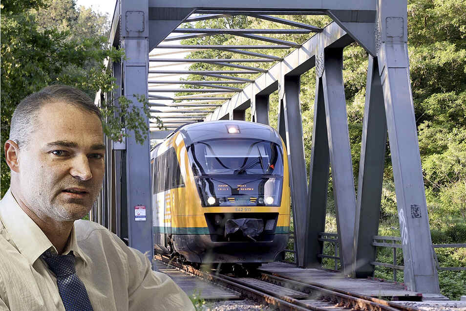 Der Görlitzer Landtagsabgeordnete Sebastian Wippel hält die Elektrifizierung der Strecke Görlitz - Zittau für fragwürdig. Laut sächsischem Wirtschaftsministerium ist dies aber vorerst gar nicht geplant.