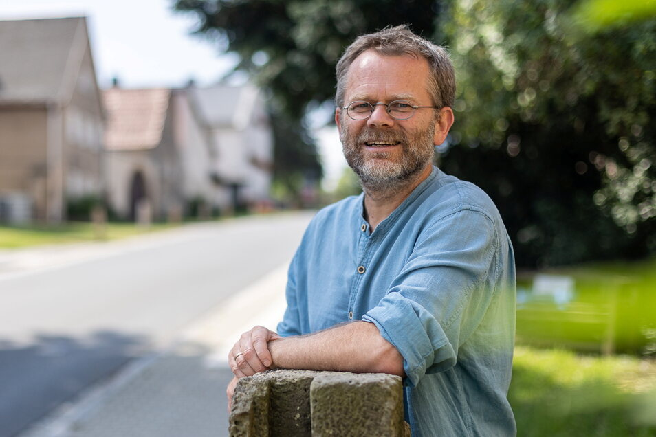 Dirk Zimmermann aus dem Bannewitzer Ortsteil Golberode will für die ÖDP das Direktmandat im Bundestag holen.