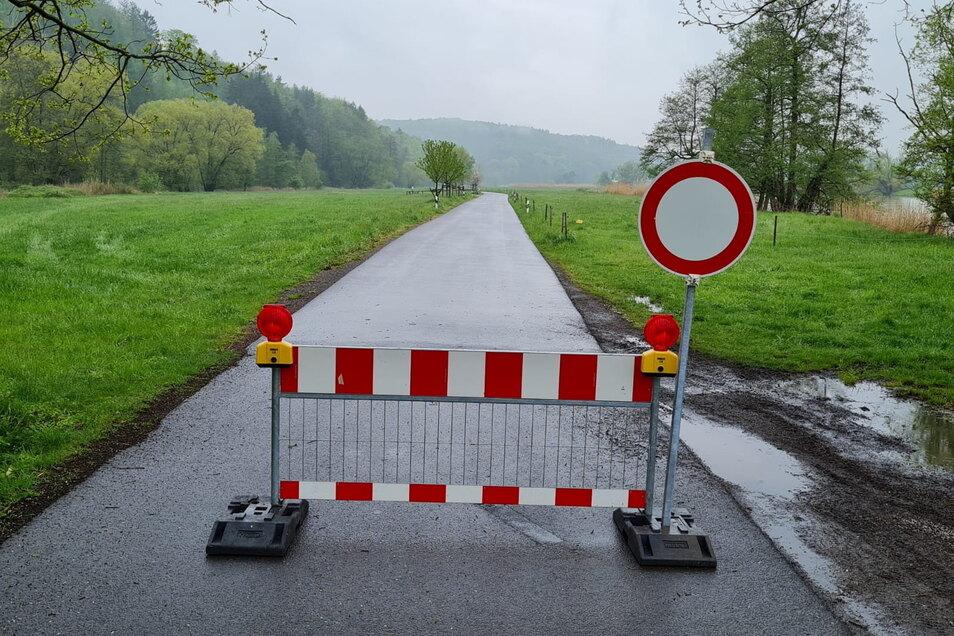Die Straße zwischen Westewitz und Wendishain ist wegen Verschmutzung gesperrt.