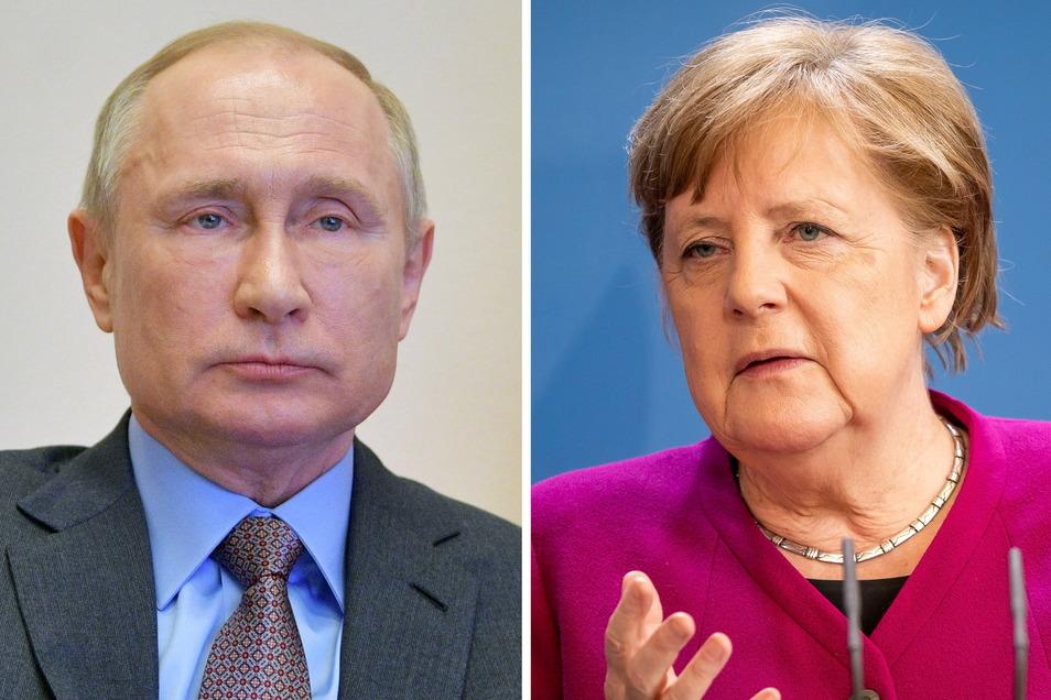 Wladimir Putin, Präsident von Russland, und Bundeskanzlerin Angela Merkel haben wegen der Ostukraine miteinander telefoniert.