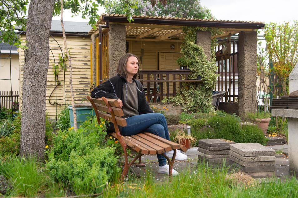 Nach einem Jahr musste Anna Behr ihren Garten in der Sparte im Ostragehege aufgeben. Die Meinungen dazu sind ganz unterschiedlich.