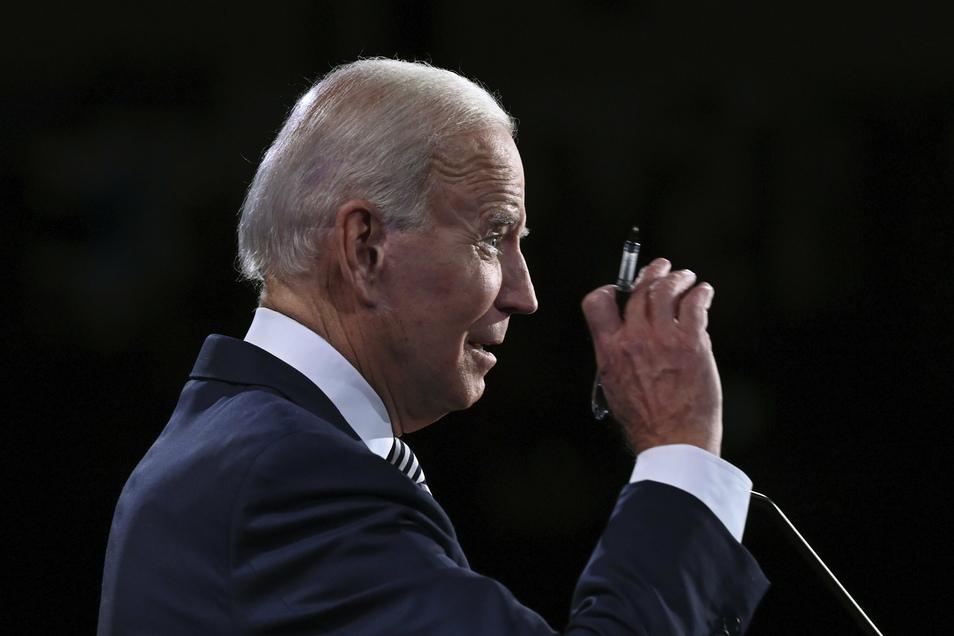 Joe Biden, Präsidentschaftskandidat der Demokraten, umriss seine Pläne als möglicher Präsident und warf Donald Trump vor, die Corona-Krise nicht zu beherrschen.