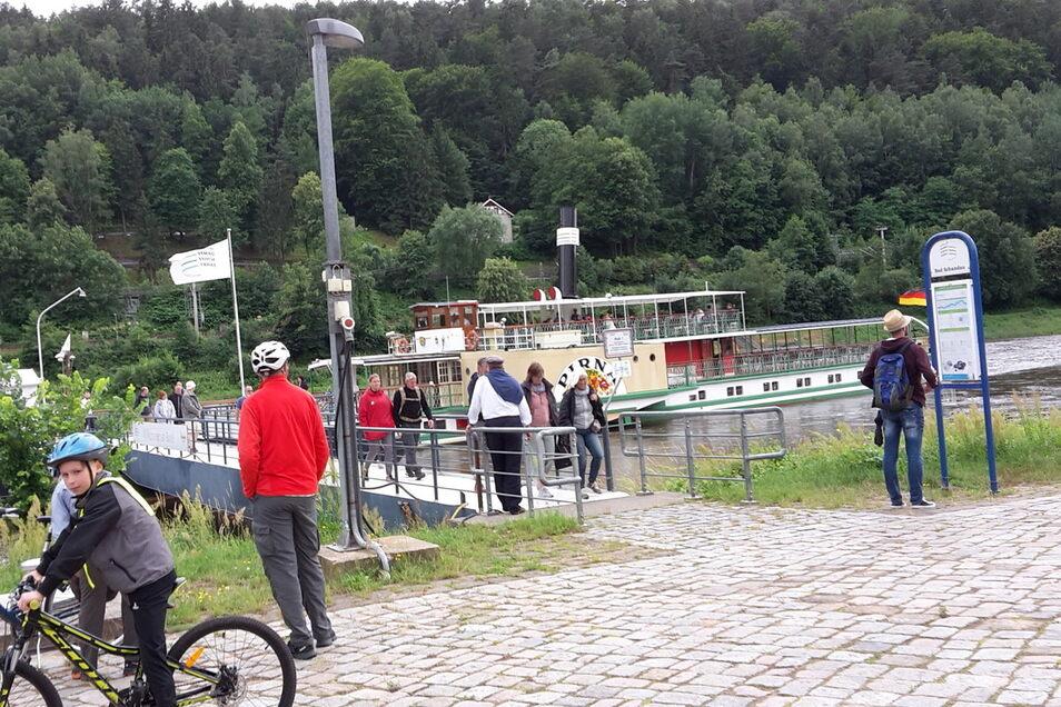 Am 1. Juli hat der erste Dampfer wieder in Bad Schandau angelegt.