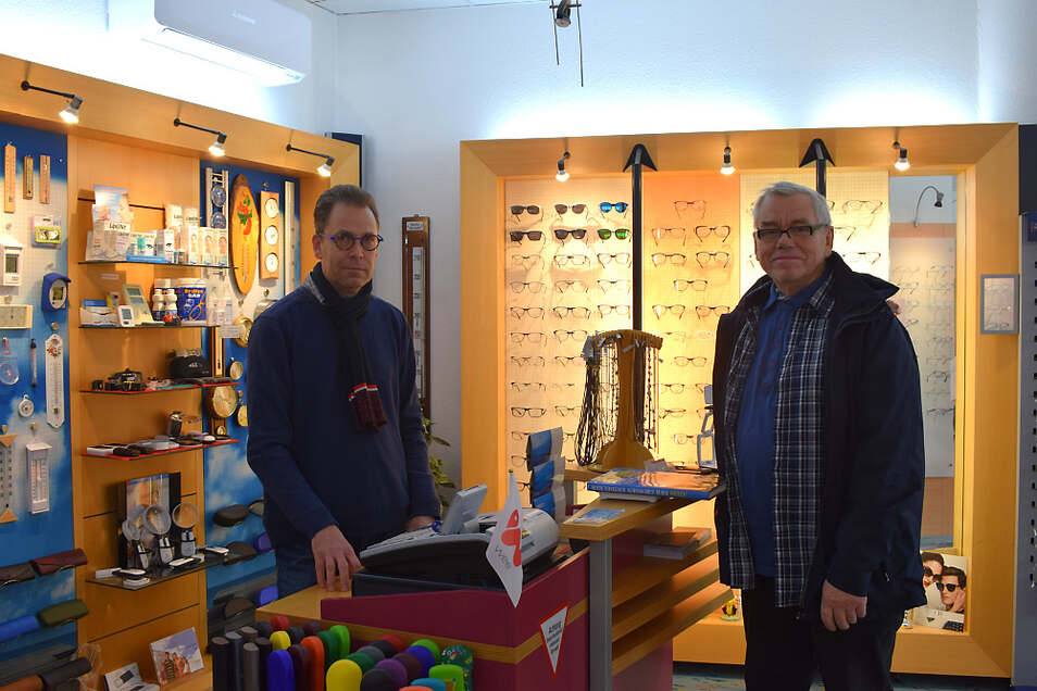 Optiker Böhm in Hoyerswerdas Altstadt: Gestern war hier noch offen.
