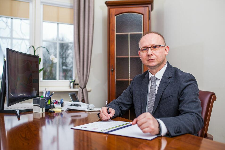 Wojciech Błasiak hat erst Ende 2018 den Bürgermeister-Posten übernommen.