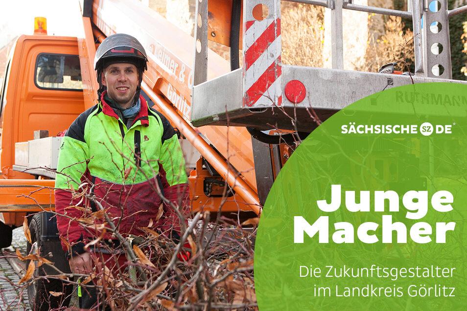 Fabian Berger hat in dieser Woche die hohe Linde vor dem Basta in der Görlitzer Hotherstraße ausgelichtet.