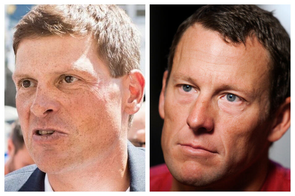Die früheren Widersacher Lance Armstrong (rechts) und Jan Ullrich.