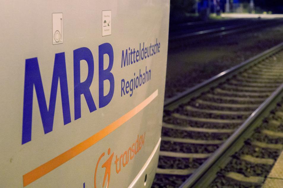 Ein Zug der Mitteldeutschen Regionalbahn.