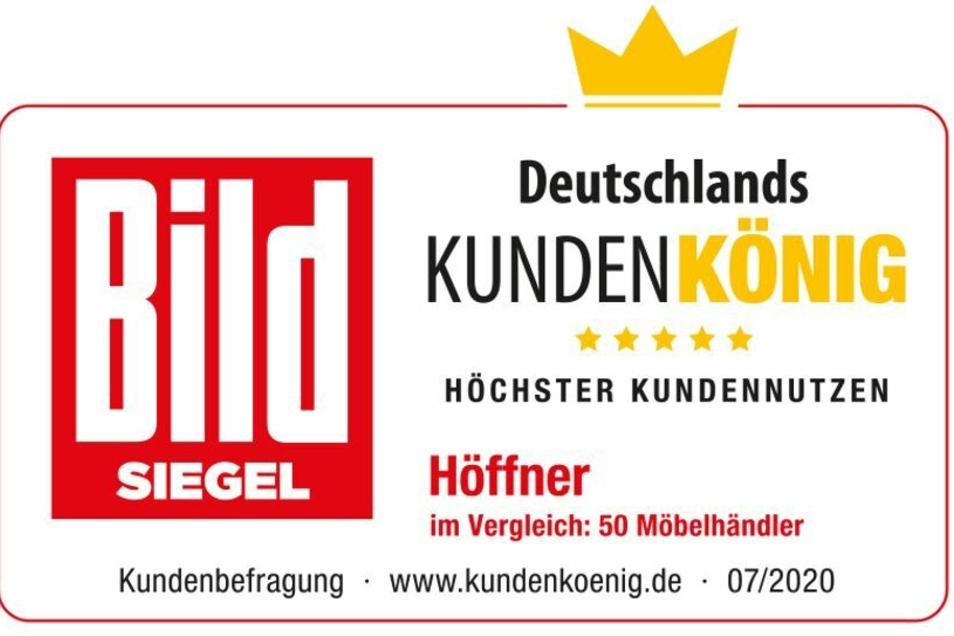 """Höffner wirbt mit dem Siegel """"Beliebtestes Möbelhaus"""" - über die Qualität der Möbel sagt es allerdings nichts aus."""