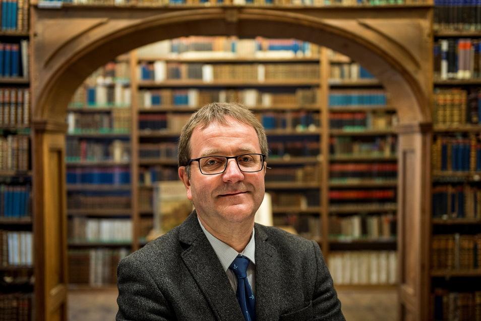 Steffen Menzel von der Oberlausitzischen Bibliothek der Wissenschaften in Görlitz.