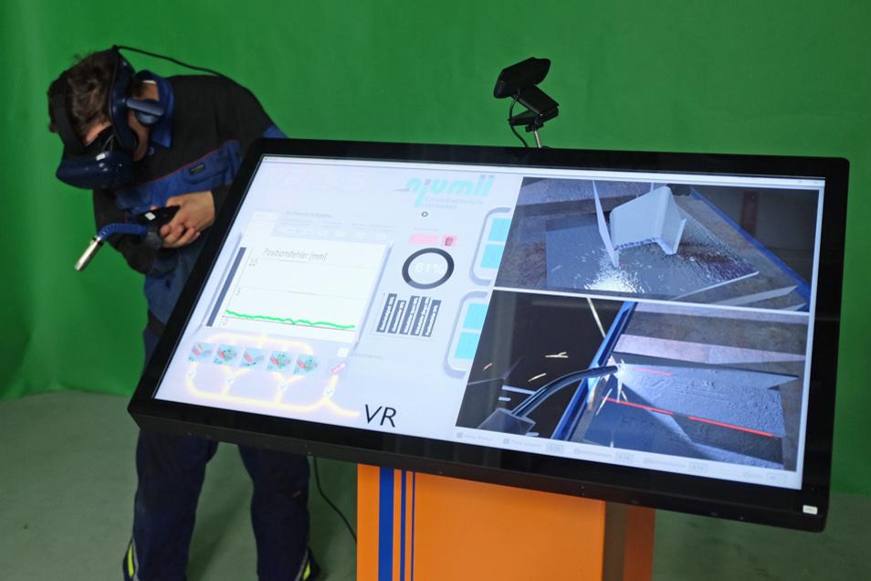 Verschiedene Schweißsituationen werden virtuell nachgestellt.