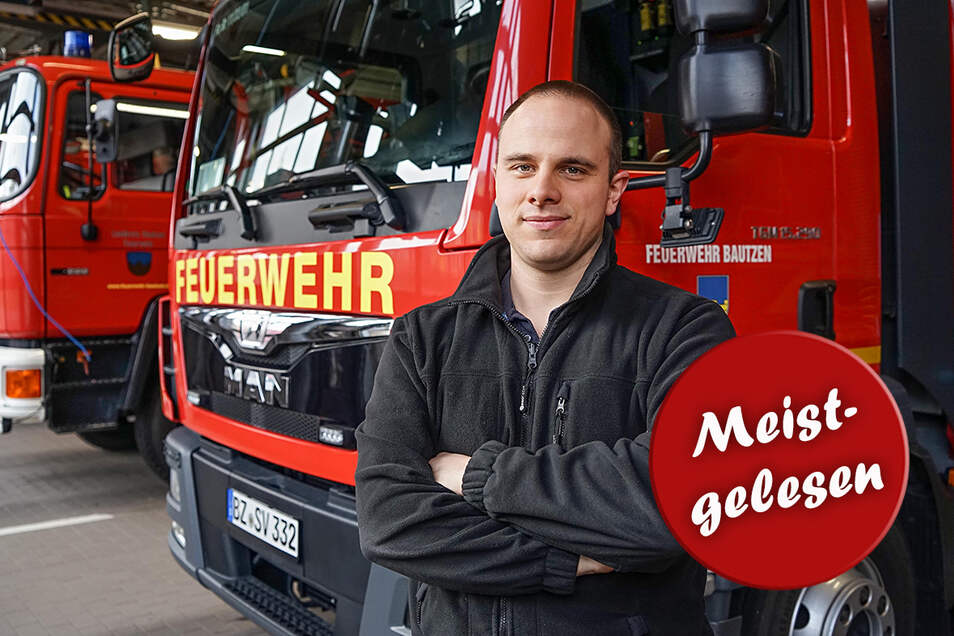 """Feuerwehrmann Paul Stübner erlebte im vergangenen Jahr einige emotionale Einsätze. Besonders gefordert wurden er und seine Kameraden von Sturmtief """"Eberhard""""."""