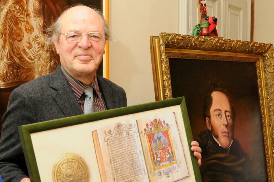 Dr. Harald Jancke aus Berlin ist ein Nachfahre derer von Palm auf Schloss Lauterbach.