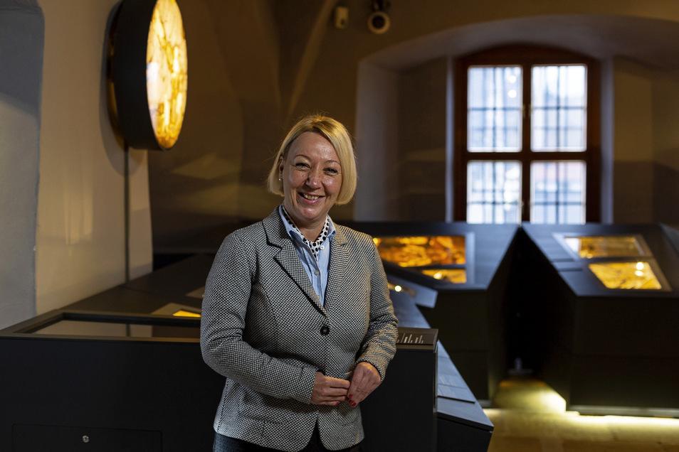 Ines Hanisch-Lupaschko, besucht das Bergbaumuseum in Dippoldiswalde. Die Chefin des Tourismusverbandes Erzgebirge freut sich über die Gästezahlen in der Region.