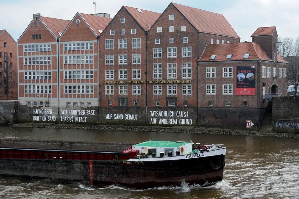 """Das Museum für moderne Kunst """"Weserburg"""" in Bremen."""