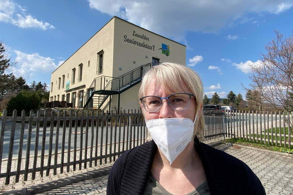 """Pflegedienstleiterin Susann Richter vom Lawalder """"Seniorenhäus'l""""."""