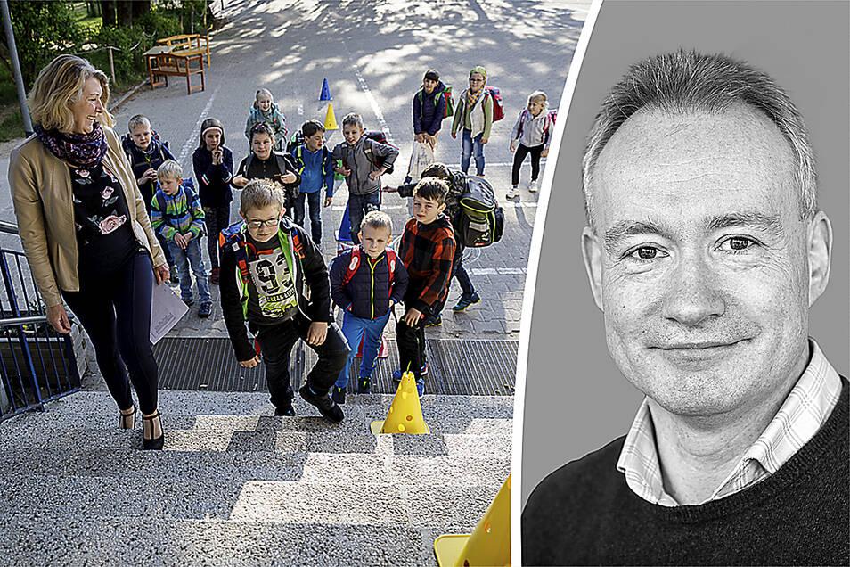 Grundschule Schöpstal öffnet wieder D, Sachsen, Ebersbach, 18.05.2020 Foto: Nikolai Schmidt