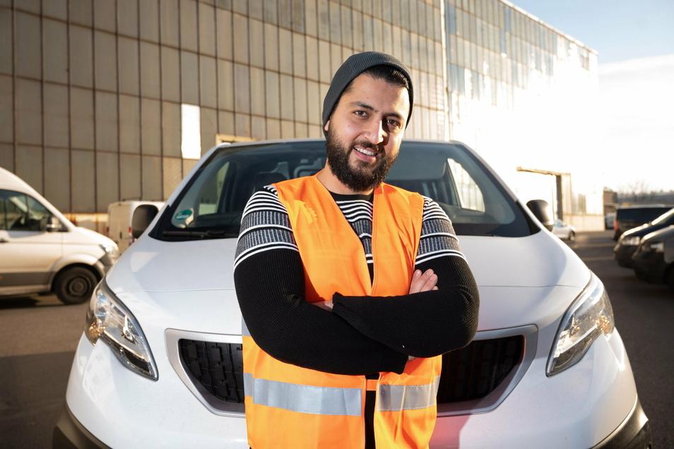 Khaled Al-Abbas hat in den vergangenen Monaten einen Paketdienst in Dresden aufgebaut, der nun immer weiter wächst.