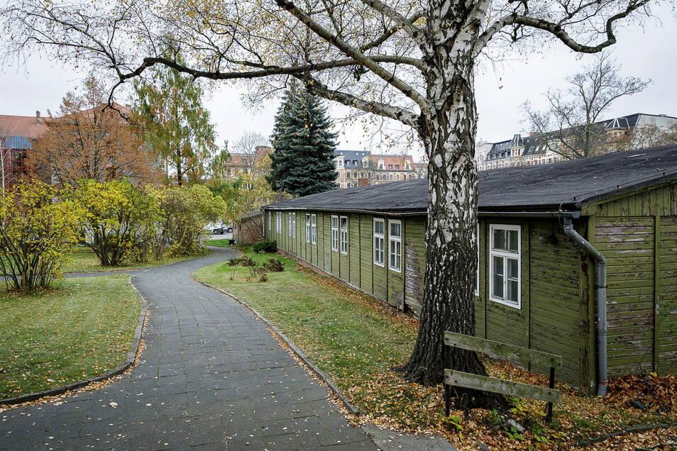 Diese Baracke auf dem Awo-Gelände soll abgetragen und in Zgorzelec wieder aufgebaut werden.