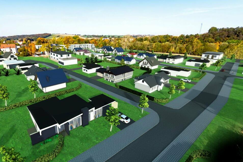 So könnte das neue Wohngebiet auf dem Gelände der ehemaligen Zuckerfabrik einmal aussehen.