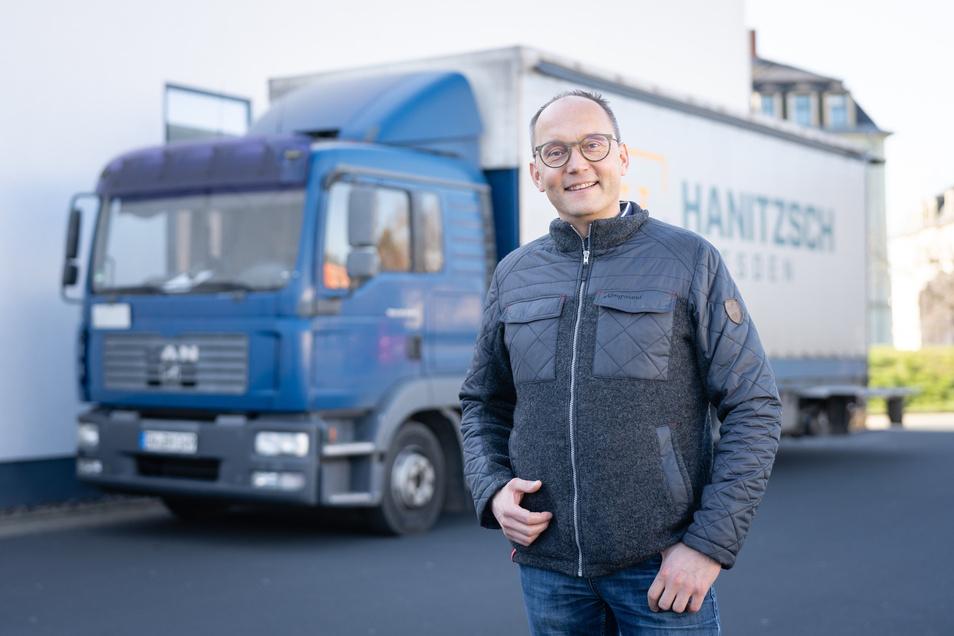 Andreas Hanitzsch, Inhaber und Chef der Spedition Hanitzsch GmbH & Co. KG in Kesselsdorf.