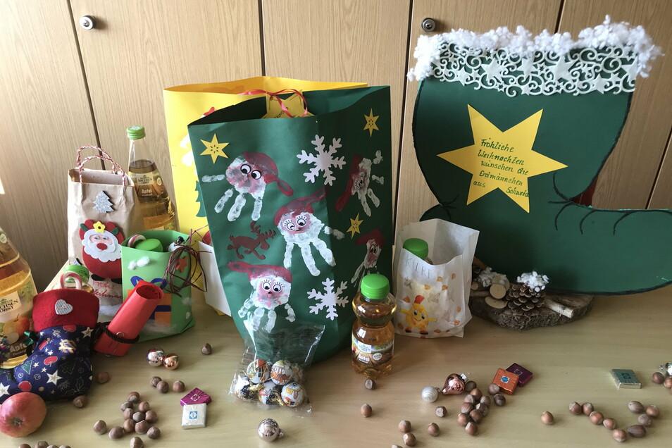 Sehr kreativ waren die Kinder, die sich an der Weihnachtsaktion von Sachsenobst beteiligt haben.