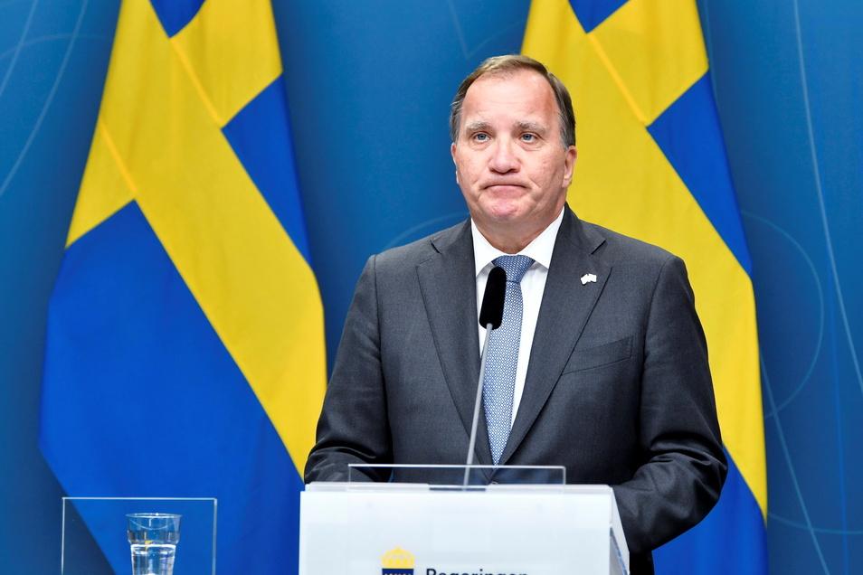 Nach einem Misstrauensvotum gegen ihn tritt Stefan Löfven als Ministerpräsident von Schweden zurück.